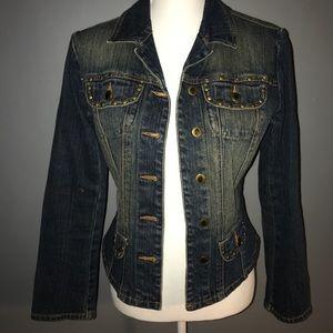 Bisou Bisou Embellished Denim Jacket